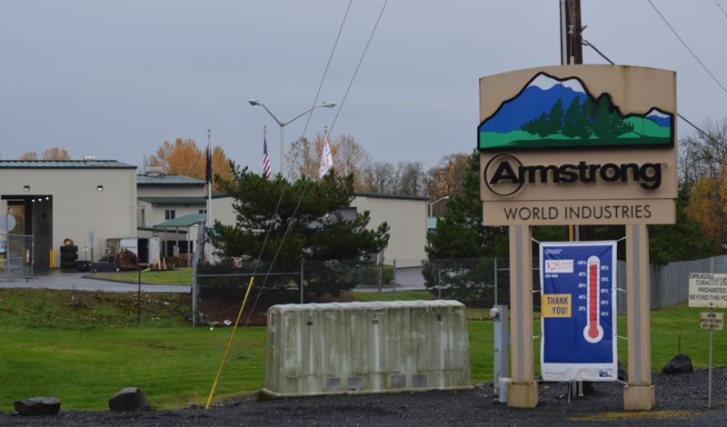 SPOTLIGHT PHOTO: COURTNEY VAUGHN - Armstong World Industries, a global corporation headquartered in Pennsylvania, announced last week it would be closing the St. Helens plant in mid-2018. The company currently employs 130 people at the facility.