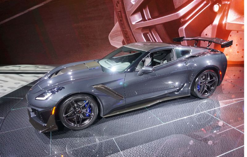 PORTLAND TRIBUNE: JEFF ZURSCHMEIDE - The 2019 Corvette Stingray ZR-1 features a supercharged V8 engine rated at 755 horsepower and 715 pound-feet of torque.
