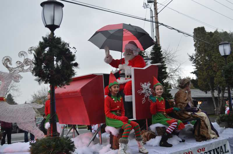 GAZETTE FILE PHOTO - The annual Sherwood Winter Festival Parade and Tree Lighting runs from 6 to 4 p.m. on Dec. 2.