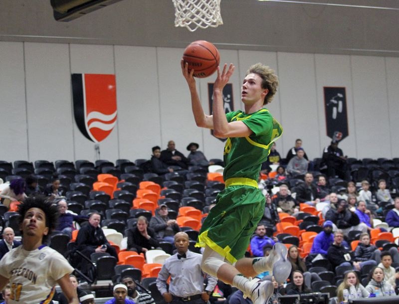 TIDINGS PHOTO: MILES VANCE - West Linn senior guard Jalen Thompson and the Lions believe they'll be able to challenge for a fifth straight Three Rivers League championship this season.