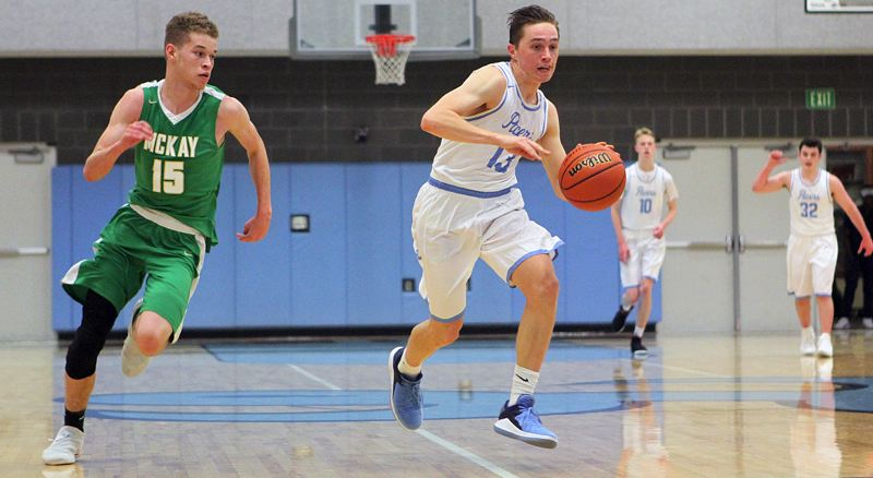 REVIEW PHOTO: MILES VANCE - Lakeridge senior guard Jake Fedrizzi is the Pacers' unquestioned leader as the team prepares for the 2018 Three Rivers League race.
