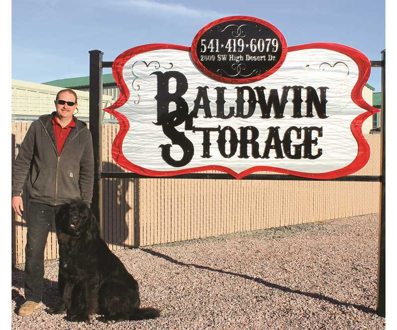 HOLLY SCHOLZ/CENTRAL OREGONIAN  - Ray Fahlgren opened Baldwin Storage, a new mini storage business, in the Baldwin Industrial Park.