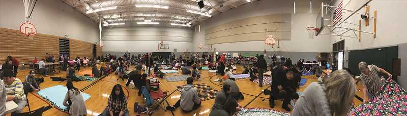 More than 300 people filled two gyms at Baker Prairie Middle School Saturday.