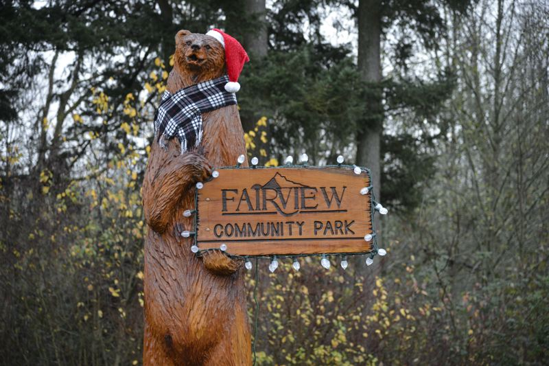CONTRIBUTED: TED TOSTERUD - Fairview's community park was adorned with festive holiday lights ahead of the tree lighting ceremony on Saturday, Dec. 2.