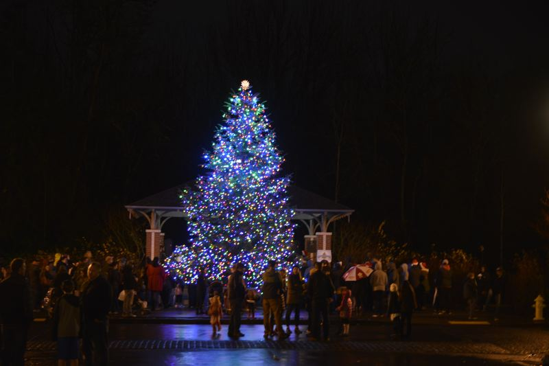 CONTRIBUTED: TED TOSTERUD - Fairview's christmas tree was a sight to behold after Mayor Ted Tosterud flicked the switched and illuminated the tree on Saturday.