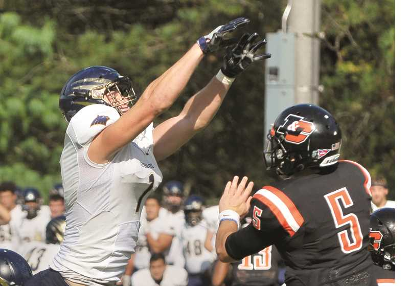 GRAPHIC FILE PHOTO - Sophomore defensive lineman Caleb Dalzell, a Gresham native, earned first-team honors from the Northwest Conference last week.