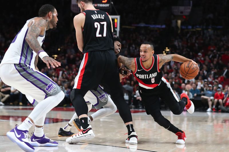 TRIBUNE PHOTO: JAIME VALDEZ - Trail Blazers guard Shabazz Napier gives Portland coach Terry Stotts options to use a small lineup.