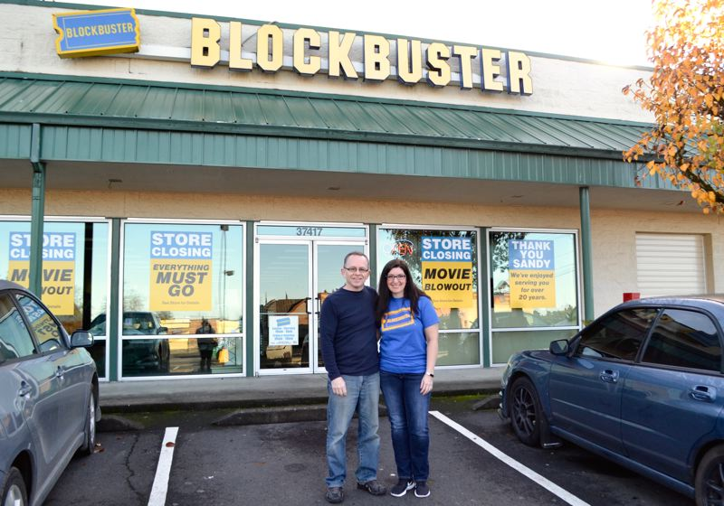 POST PHOTO: BRITTANY ALLEN - Andy and Linda Anderson, owners of the Sandy Blockbuster store.