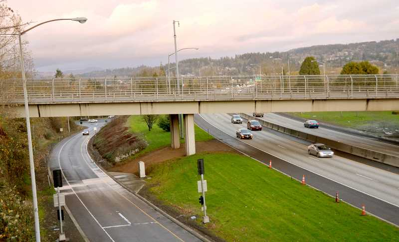 TIDINGS PHOTOS: VERN UYETAKE - Due to minimal use and redundancy with other nearby bridges, the Broadway bridge over I-205 would be removed as part of an ODOT project to widen the freeway.
