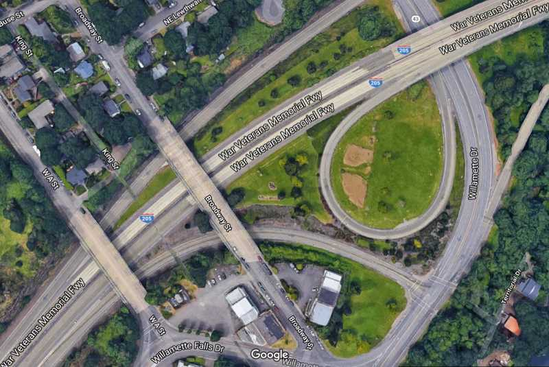 Three West Linn bridges — on West A Street, Broadway Street and Sunset Avenue — would be taken down to allow for the addition of a new lane in each direction on I-205. The West A Street and Sunset bridges would be replaced.