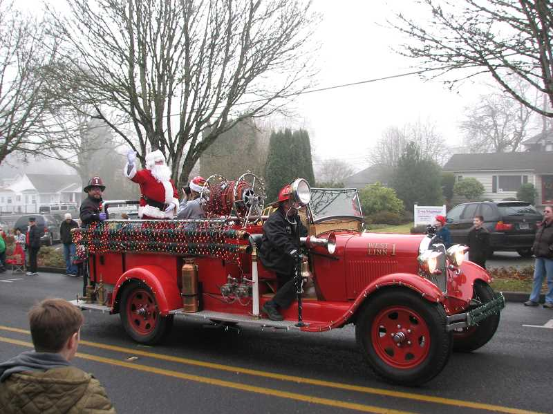 SUBMITTED PHOTO - The annual Holiday Parade will take place at 10 a.m. Dec. 9, and you still have time to prepare a parade entry. Sign up starting at 9 a.m. at Willamette Falls Drive.