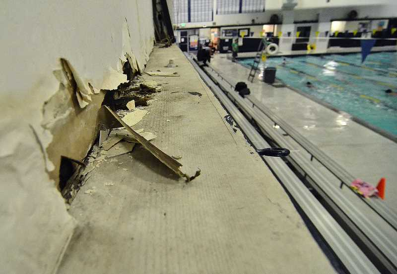 REVIEW FILE PHOTO: VERN UYETAKE - Voters allocated $7 million from a bond measure in May to replace the Lake Oswego School District's pool, which is 46 years old and deteriorated beyond repair.