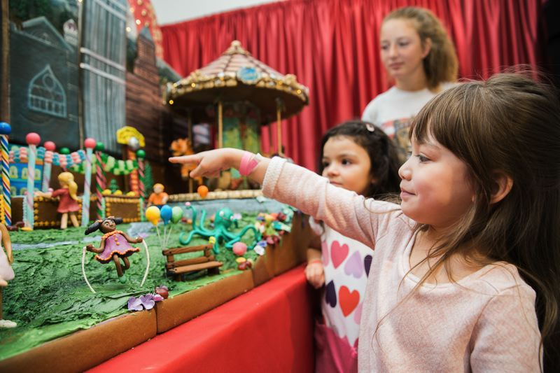 COURTESY PHOTO - The 'Gingerbread Adventures' exhibit at OMSI teaches people of all ages about building the edible structures. The theme is 'Illusions,' and it's an exhibit open through Jan. 1.