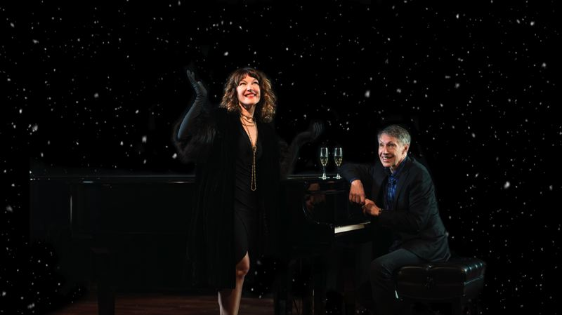 COURTESY PHOTO - Longtime musical partners Tom Grant and Shelly Rudolph put on their 'Baby It's Cold Outside!' show Dec. 11 at Classic Pianos.