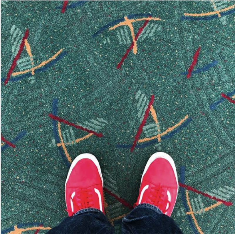(Image is Clickable Link) COURTESY: INSTAGRAM/CHRIS COSENTINO - Celebrity chef Chris Cosentino posted this picture of his feet at the Portland International Airport Dec. 7. Airport carpet selfies have become a tradition at this most-instagrammed place in the state in 2017.