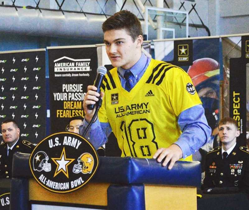 SUBMITTED PHOTO - Wilsonville senior Draco Bynum is one of 100 athletes chosen to participate in the Army All-American Bowl in San Antonio on Jan. 6.