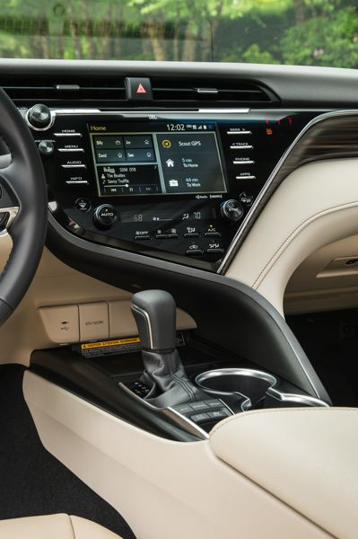 TOYOTA MOTOR NORTH AMERICA - The dash in the 2018 Toyota Camry Hybrid is a work of art.
