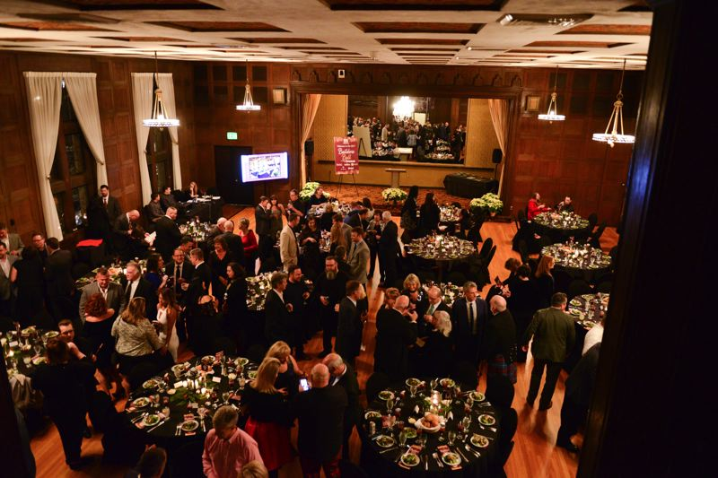 ANDREW ROLES - The scene at the Tiffany Center in downtown Portland at the 2017 Oregon Home Builders Association Builders Ball.