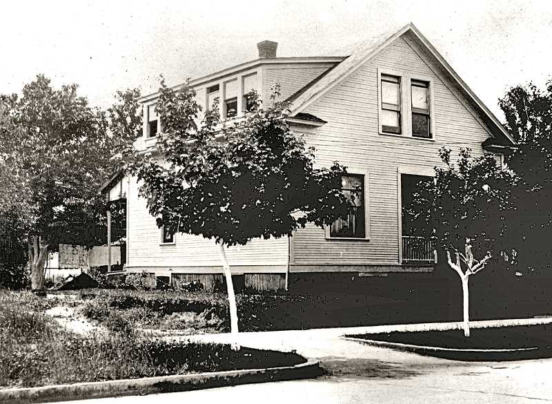 COURTESY OF SMILE HISTORY COMMITTEE - In this picture, taken around 1910, the second story of the Elkin house has been enlarged, with two shed dormers added to the roof - probably to accommodate the four Elkin children.