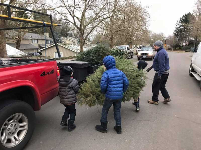 SUBMITTED PHOTO - If you receive a Scouting for Trees flier at your home, you can put your holiday tree out Jan. 6 and have a batch of Scouts stop by to pick it up.