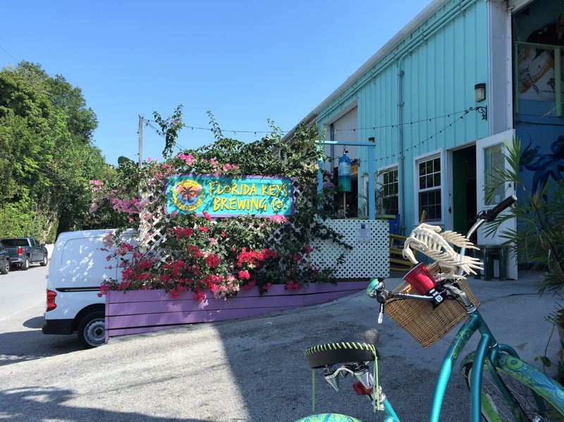 CONTRIBUTED PHOTO: LILA REED - Keys Brewing Company in Key Largo, is home to 10 varieties of local brews, including Spearfish Amber Ale and a tasty pineapple cider.