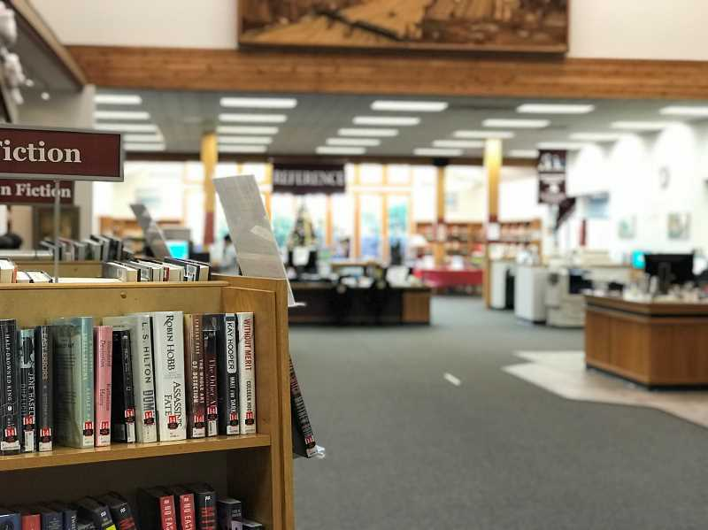 SPOKESMAN: LESLIE PUGMIRE HOLE - Wilsonville Librarys circulation and reference desk will be a bit altered with the remodeling project, both in form and function. The project is expected to be finished by June 2018.