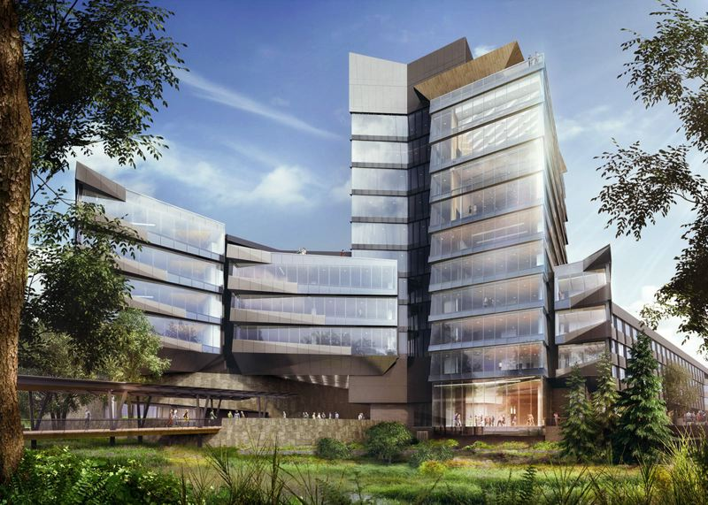 PAMPLIN MEDIA GROUP: FILE PHOTO - The three-building Nike World Headquarters is currently under construction with a 2018 completion date.