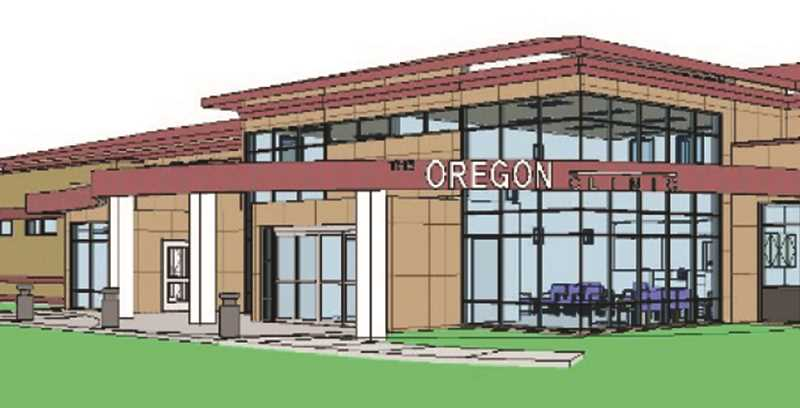 RENDERING COURTESY OF OREGON CLINIC - A rendering of the new Oregon Clinic facility depicts what the ambulatory surgery center in Newberg will look like.