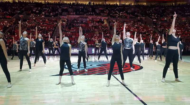 Dancers from Van De Veere Productions often perform at Portland Trail Blazers games, but they've never been on a national stage like the Orange Bowl.