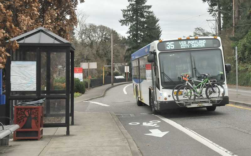 TIDINGS PHOTO: VERN UYETAKE - The City Council and other West Linn residents have expressed frustration with bus services in the city, and at a work session Monday the council urged TriMet to make improvements.