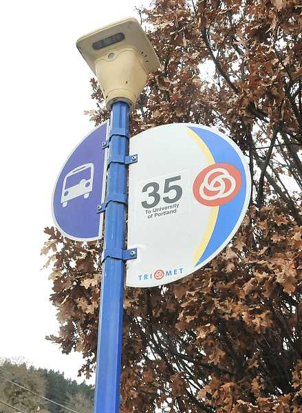 TIDINGS PHOTOS: VERN UYETAKE - TriMets Line 35 is an oft-used route along Highway 43 into Portland, and the agency hopes to increase the frequency of stops along that line.
