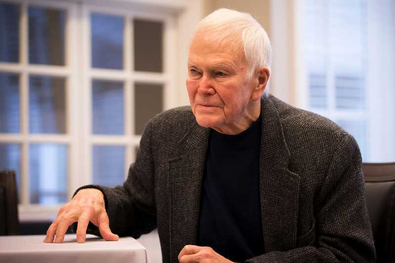 TRIBUNE PHOTO: JAIME VALDEZ - Former U.S. Sen. Bob Packwood says President Ronald Reagan made it clear in 1986 that a tax overhaul could not raise taxes or add to the federal debt. 'He would never have signed the tax legislation now making its way through Congress,' he says.