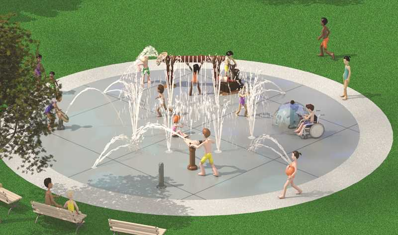 SUBMITTED PHOTO  - The following artwork depicts what many splash pad attractions feature.