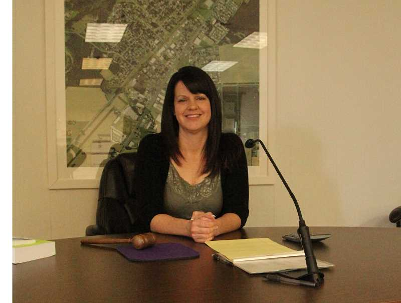 INDEPENDENT FILE PHOTO - Thia Estes, who was elected mayor of Hubbard in November 2016, resigned in September amid a recall campaign. Two councilors soon followed with their own resignations.