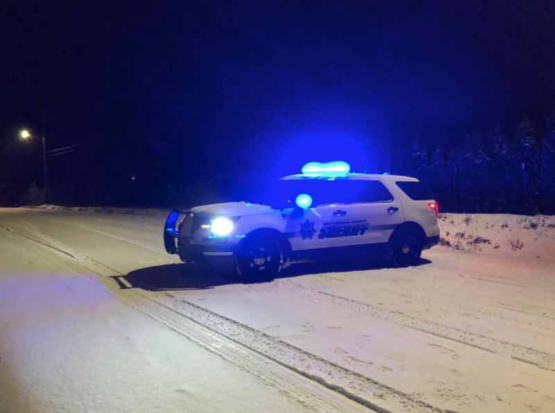 POLICE PHOTO - Deputies responded to multiple crashes in East Multnomah County on Dec. 24 and Dec. 25.