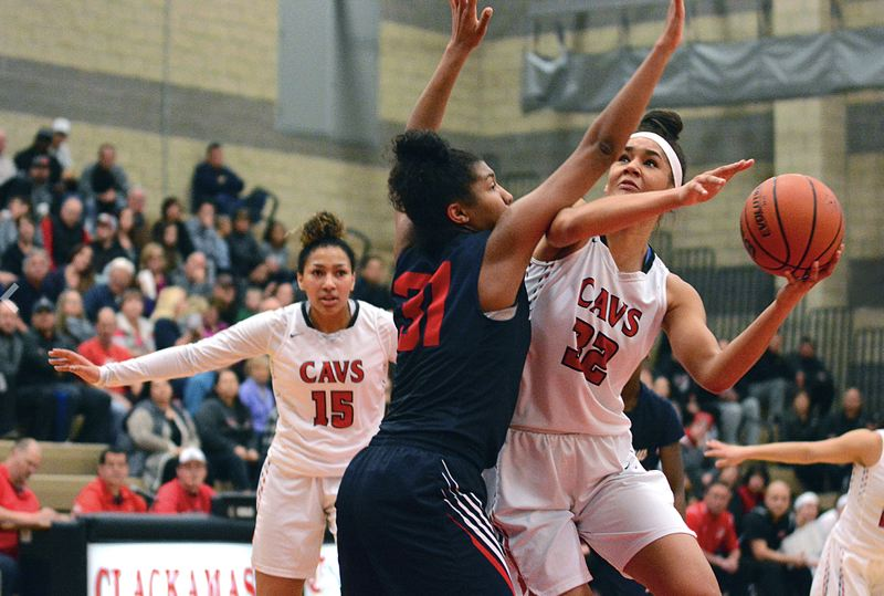 REVIEW PHOTO: JIM BESEDA - Clackamas senior Ciara James (shown here last year) and her Cavalier teammates are ranked third in the latest statewide Class 6A girls basketball coaches poll.