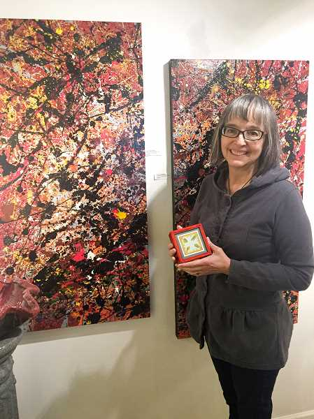 FILE PHOTO - Local artist Nolene Triska is looking forward to painting the mural 'Celebration of Summer' with members of the Artback next summer.
