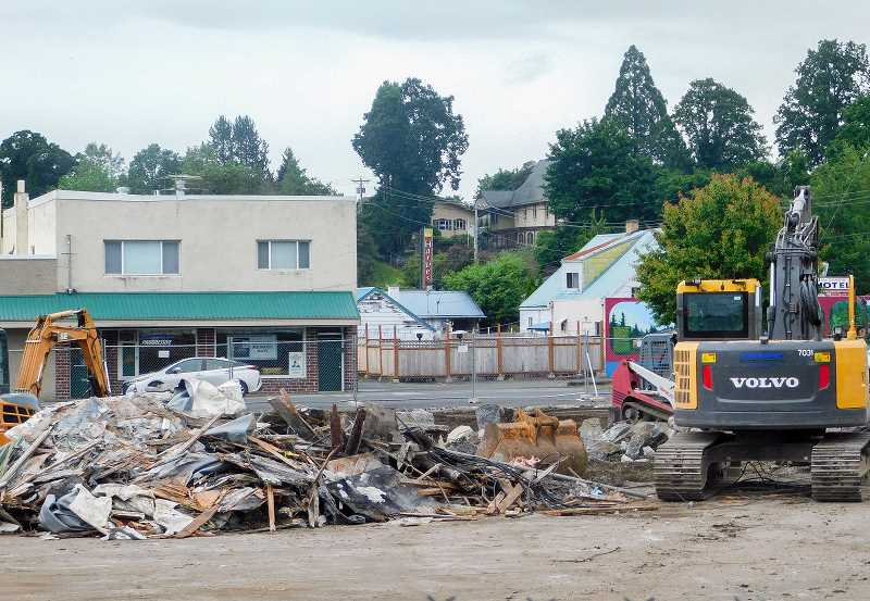 FILE PHOTO - This was all that was left of the Safari Club building earlier this year.