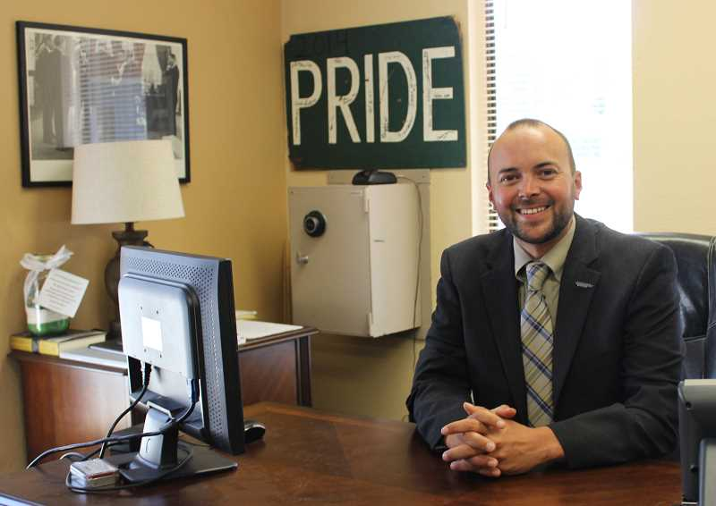 FILE PHOTO - Ryan Carpenter, previously principal of Estacada High School, was named interim superintendent in February. He then became the school districts permanent leader in November.