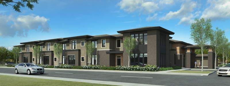 SUBMITED RENDERING - A computer drawing shows the plan for a two-story senior living group home on the corner of Southeast Stark Street and 197th Avenue in Rockwood.