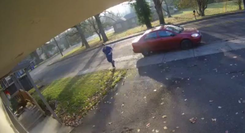 PHOTO COURTESY: OCPD - The suspect in this still frame from a video was involved in a package theft from a residence in Oregon City.