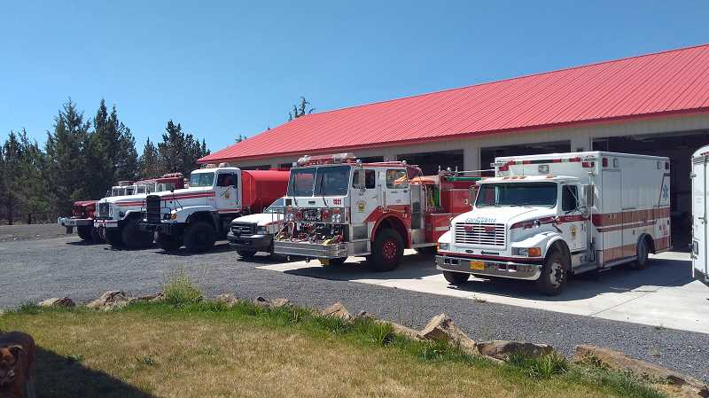 SUBMITTED PHOTO - Lake Chinook Fire and Rescue's new fire station was built in 2015. Earlier this year, the district added ambulance service, and this month, approved a fee schedule. In January, the district will consider outdoor burning fees.