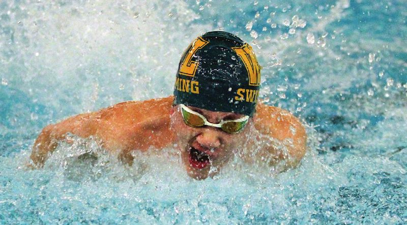 TIDINGS PHOTO: MILES VANCE - West Linn junior William Chun is back again in the butterfly, individual medley and freestyle events for the Lions this year.