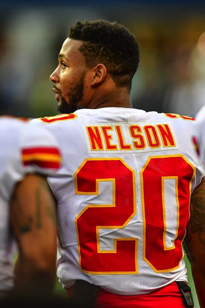MICHAEL WORKMAN PHOTO - Steven Nelson, former Oregon State defensive back, will help lead the Kansas City Chiefs defense into the NFL playoffs this weekend against the Tennessee Titans.