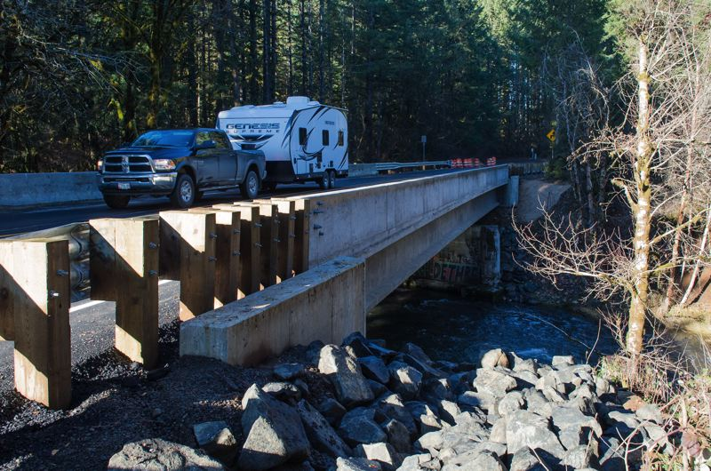 NEWS-TIMES PHOTO: CHRISTOPHER OERTELL - A newly built bridge crossing Gales Creek north of Highway 6 will have some paving work done this spring.
