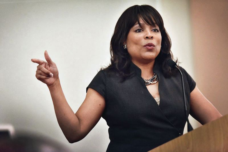 TRIBUNE FILE PHOTO - Multnomah Commissioner Loretta Smith could face a legal action seeking to force her to resign restroacttive to last September, based on athe county charter. She says she did nothing wrong.