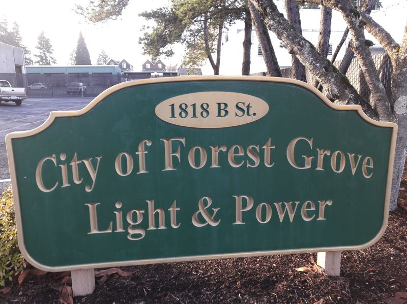 NEWS-TIMES PHOTO: MARK MILLER - Forest Grove's power rates are proposed to increase this year by 3 percent.