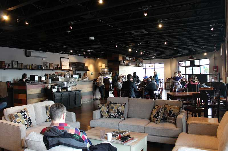 HERALD PHOTO: KRISTEN WOHLERS - The building, formerly Place to Be Cafe and then Judson Roy Home Furnishings, has been updated to accomodate coffeehouse guests.