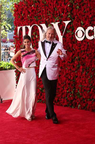 SUBMITTED PHOTO: COREY BRUNISH - Corey Burnish and his wife Jessica walk the red carpet at the 2017 Tony Awards, where he receieved his eighth nomination in six seasons.