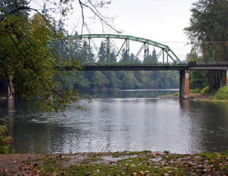 The area where a dog was found drowned on Dec. 18. This file photo was taken prior to the Carver Bridge replacement in 2014.